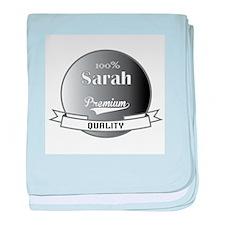 100% Sarah baby blanket