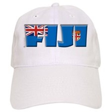 Word Art Flag of Fiji Baseball Cap
