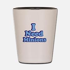 I need Minions retro blue 2 Shot Glass