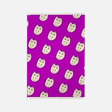 Purple Ditto Hippo Mirage Designer Rectangle Magne
