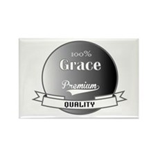 100% Grace Rectangle Magnet