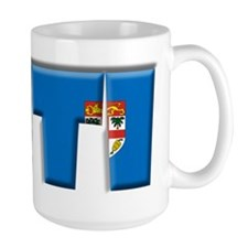 Word Art Flag of Viti (Fiji) Mug