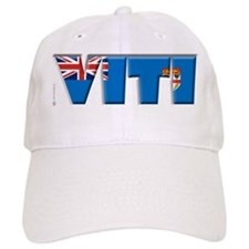Word Art Flag of Viti (Fiji) Baseball Cap