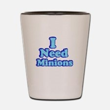 Vintage I need Minions 2 tone blue Shot Glass