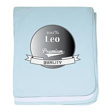 100% Leo baby blanket