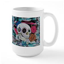 Sugar Skull and Roses Mug