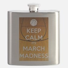 Keep Calm It's March Madness Flask
