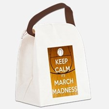 Keep Calm It's March Madness Canvas Lunch Bag