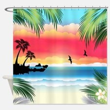 Tropical Beach Shower Curtain