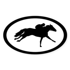 Thoroughbred Racehorse Oval Decal