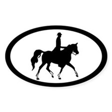 Arabian Horse Trotting Oval Decal