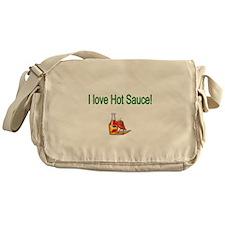 I love Hot Sauce Messenger Bag