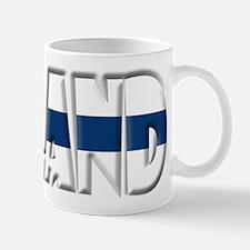 Word Art Flag of Finland Small Small Mug