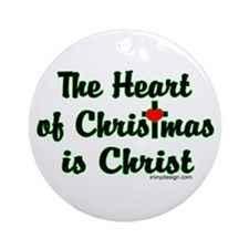 Christ in Christmas Ornament (Round)