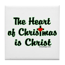 Christ in Christmas Tile Coaster