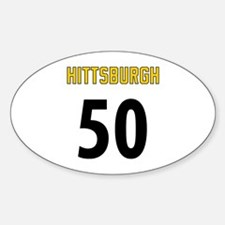 Hittsburgh 50 Sticker (Oval)