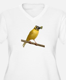 Canary in gas mask Plus Size T-Shirt