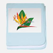 Hula Mai logo baby blanket