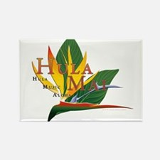 Hula Mai logo Rectangle Magnet