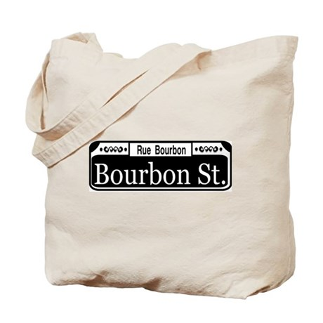 Bourbon Street Sign Reproduct Tote Bag
