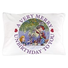 ALICE MAD HATTER UNBIRTHDAY_PURPLE copy.png Pillow