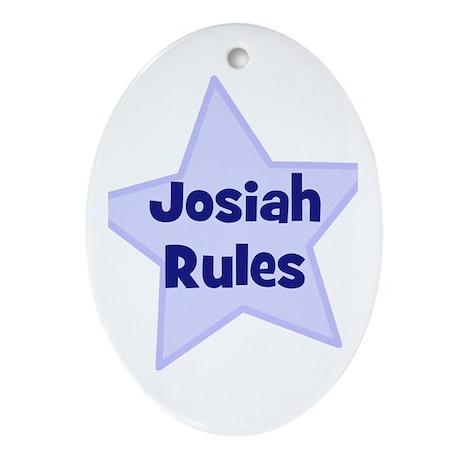 Josiah Rules Oval Ornament