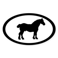Belgian Horse Oval Decal