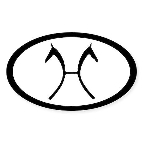 Hanoverian Horse Brand Oval Sticker