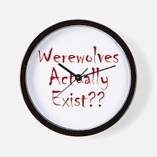 Werewolves Actually Exist Wall Clock