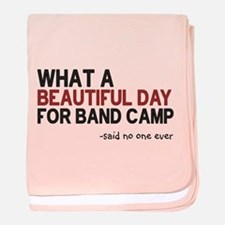 Band Camp baby blanket