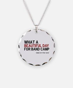 Band Camp Necklace Circle Charm