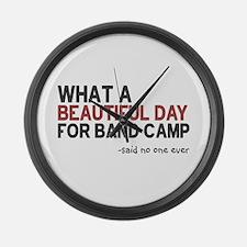 Band Camp Large Wall Clock