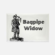 Bagpipe Widow Rectangle Magnet