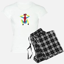 Sitting colorful mannequin Pajamas