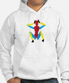 Sitting colorful mannequin Hoodie