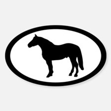 American Quarter Horse Oval Decal
