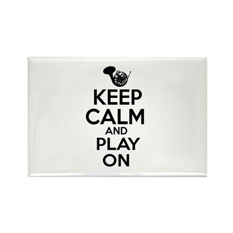 French Horn lover designs Rectangle Magnet (100 pa
