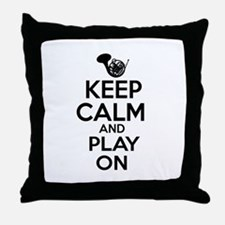 French Horn lover designs Throw Pillow