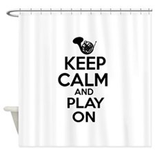 French Horn lover designs Shower Curtain