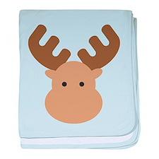 Moose baby blanket