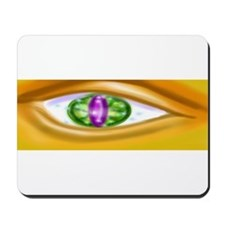 Gold faced eye Mousepad