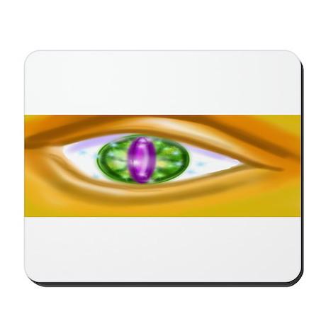 Gold faced eye Mousepad