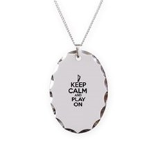 Harp lover designs Necklace Oval Charm
