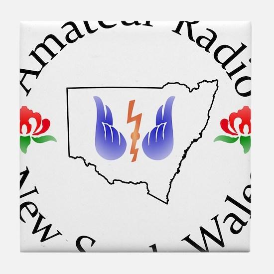 Amateur Radio NSW Logo Tile Coaster
