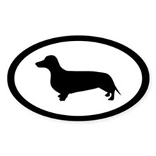 Dachshund Dog Oval Decal
