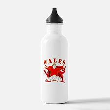 Wales football celebration Sports Water Bottle