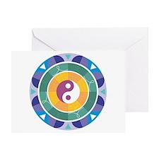 Yin Yang Mandala Greeting Card