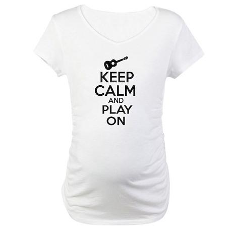 Ukulele lover designs Maternity T-Shirt