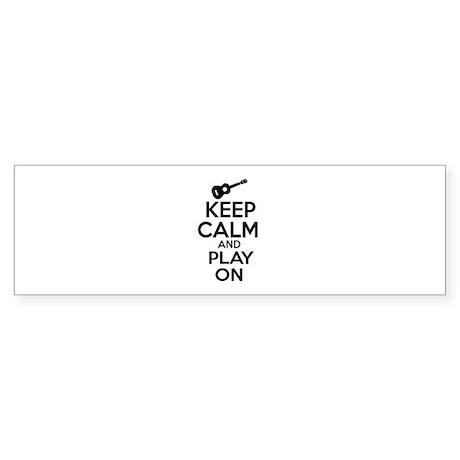 Ukulele lover designs Sticker (Bumper)