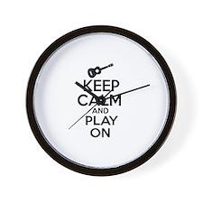 Ukulele lover designs Wall Clock